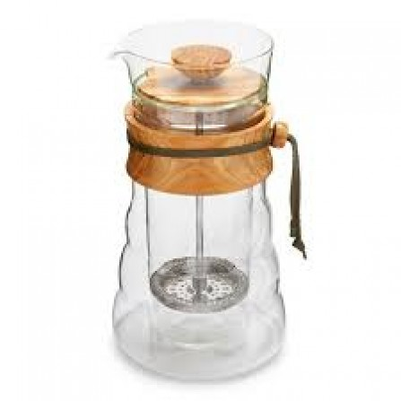 HARIO Double Glass Olive Wood French Press