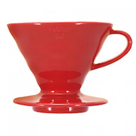 HARIO V60 Dripper Red Porcelain 2 cup